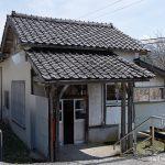 富山地鉄立山線、大正開業の千垣駅、古い木造駅舎