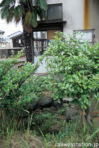 富山地鉄本線・電鉄石田駅の駅舎裏にひっそり残る枯池