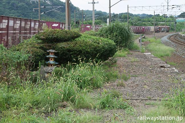 青い森鉄道・諏訪ノ平駅、JR東北本線時代から貨物列車が多い。