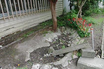 青い森鉄道・諏訪ノ平駅、駅舎前のもう一つの枯池