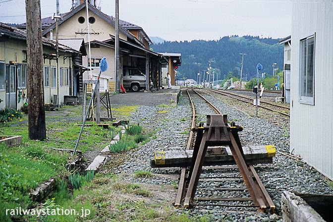 由利高原鉄道の終着駅・矢島駅の車止め