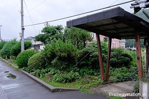 松浦鉄道・蔵宿駅、駅舎横の池庭跡