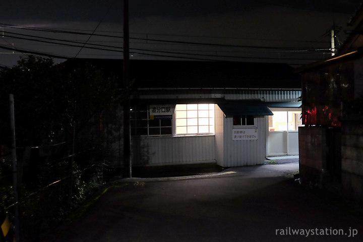 えちぜん鉄道・勝山永平寺線、袋小路のような奥まった立地の追分口駅