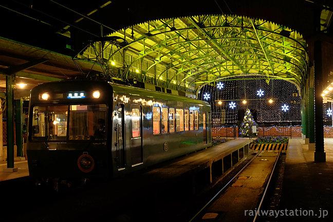 叡山電鉄叡山線の終端駅、八瀬比叡山口駅のイルミネーション