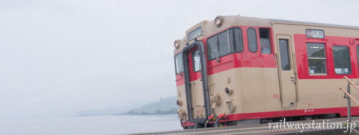 日本全国駅巡り、旅の風景画像(1)~海沿いの小さな駅にて…