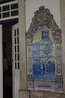 サンタレン駅舎、アズレージョのサン・ジョアン教会