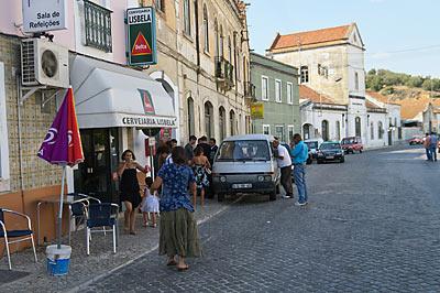 ポルトガル、サンタレン駅前のカフェ
