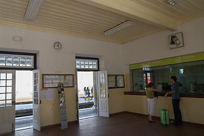 ポルトガル、サンタレン駅、切符売場