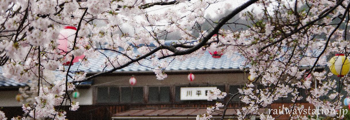 日本全国の鉄道路線、桜が楽しめる駅、イメージ画像