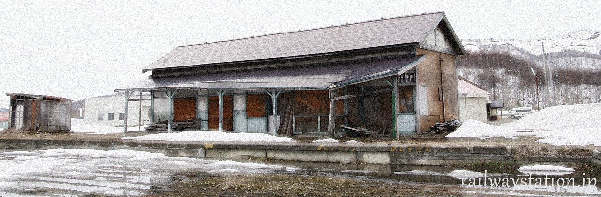廃線跡に残る駅舎、イメージ画像