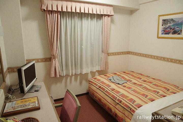 津山駅前のホテル、ホテルアルファーワン津山、シングルルーム