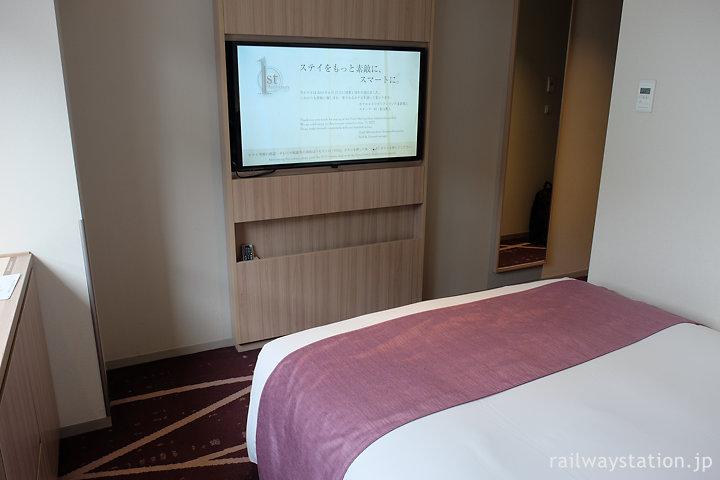 ホテルメトロポリタンさいたま新都心シングル、壁掛けテレビ
