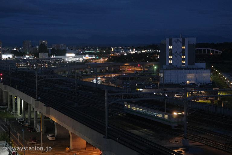 客室からのトレインビューと旭川市の夜景が楽しめるワイズホテル旭川駅前、