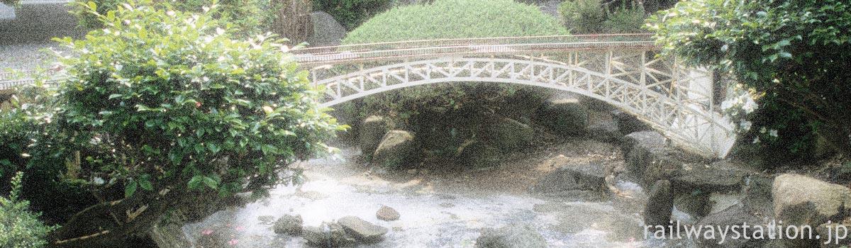 郷土色豊かなご当地型の駅の枯池(+池庭)、イメージ画像