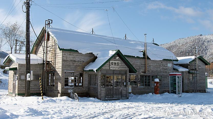根室本線、映画「鉄道員」ロケのためレトロに改修された幾寅駅舎