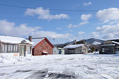 南富良野町、根室本線・幾寅駅前。映画・鉄道員のオープンセット