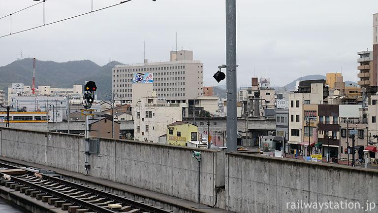 JR姫路駅から見た高尾アパート・大将軍駅と姫路の街並み