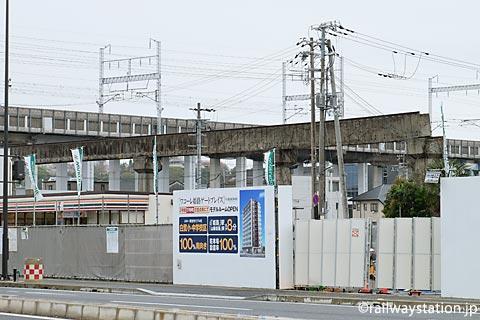 大将軍駅・高尾アパート近くの姫路モノレール廃線跡