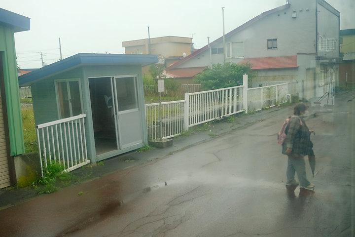 沿岸バス・羽幌町市街地のバス停