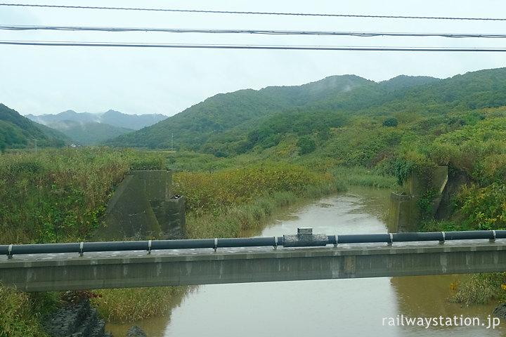 小平町内、国鉄羽幌線廃線の橋台跡