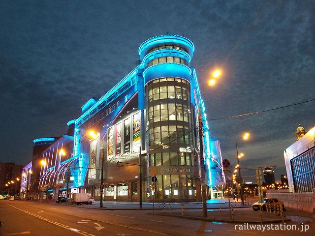 モスクワのショッピングモール・エヴロペイスキー夜景