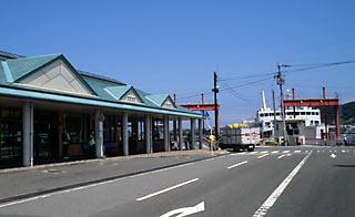 愛媛県松山市、海の玄関口の一つ、三津浜港