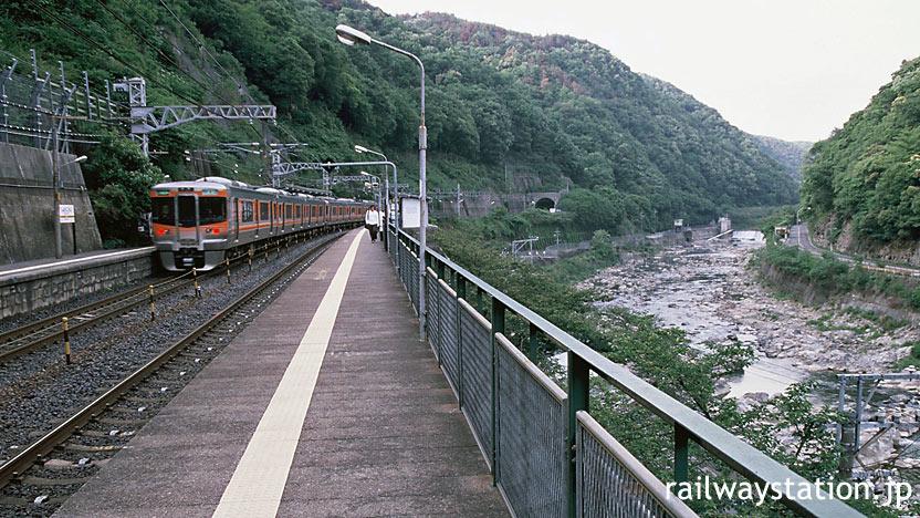 JR東海の秘境駅・中央西線の定光寺駅、ホームと周辺の風景