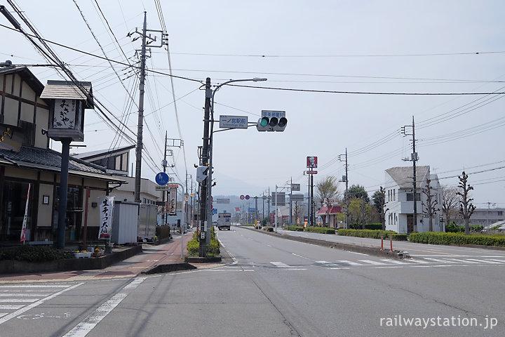 群馬県富岡市、上州一ノ宮駅近くの国道254号線