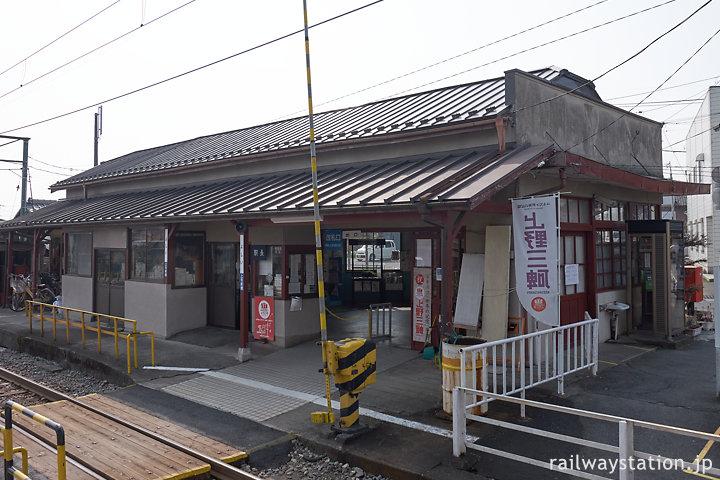 上信電鉄上信線・吉井駅、駅舎ホーム側