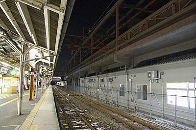JR両毛線、高架工事中の伊勢崎駅