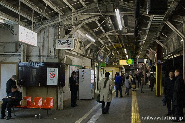 JR東日本・両毛線・伊勢崎駅プラットホーム