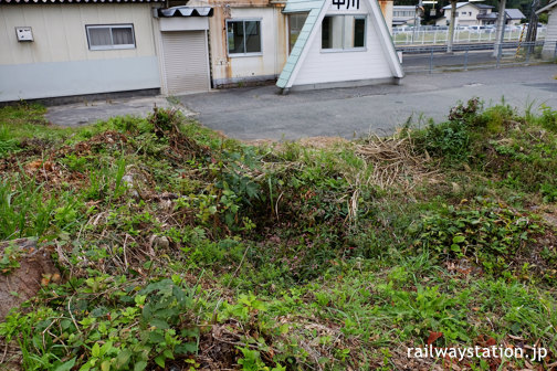 奥羽本線・中川駅、駅の池庭跡らしきもの