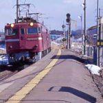 津軽線・中小国駅と通過し青函トンネルへ向かう貨物列車