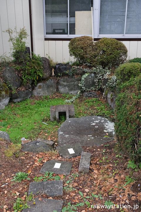 JR中央本線(中央東線)・信濃境駅、池庭跡の通路のようなモノ