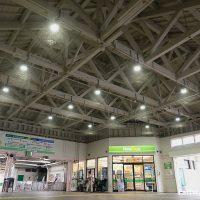 JR横須賀線・横須賀駅の木造駅舎、コンコースの大屋根