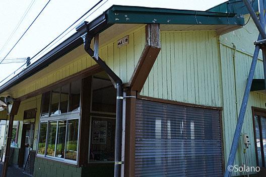 根室本線 (花咲線)・茶内駅の木造駅舎、ホーム側