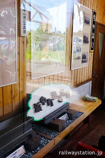 JR根室本線・茶内駅の旧駅事務室、浜中簡易軌道の展示