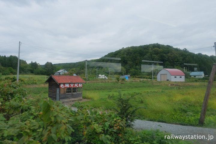 宗谷本線、車窓から見た北星駅