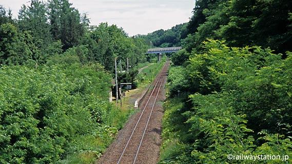 緑豊かな中にポツンと…石北本線の秘境駅・西女満別駅