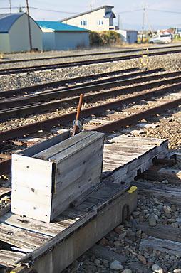 JR根室本線・布部駅構内の手動転轍機