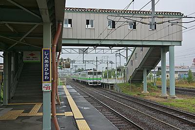 JR石北本線と宗谷本線の分岐駅、新旭川駅