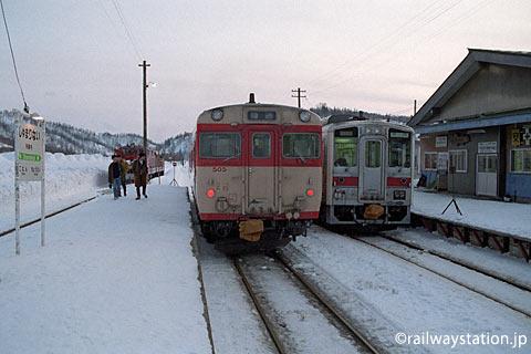 廃線前、ある冬の日の深名線・朱鞠内駅