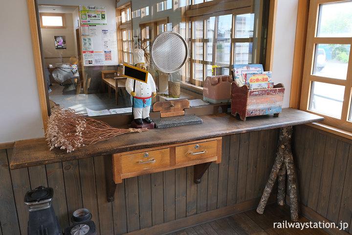宗谷本線・天塩中川駅、旧駅事務室跡に残る窓口跡