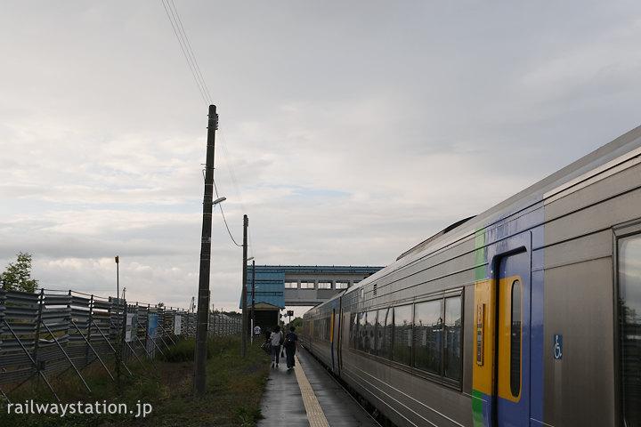 宗谷本線、特急サロベツ1号で豊富駅に到着