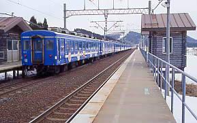JR北海道・海峡線、津軽今別駅に停車した快速海峡