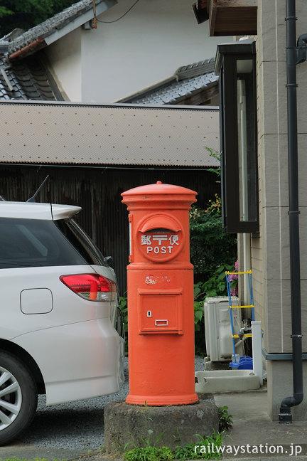 日田彦山線・大行司駅‐宝珠山駅間の駅間徒歩、丸ポスト