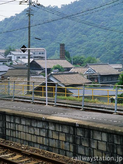 佐世保線・上有田駅から見た窯元など有田焼の街の風景