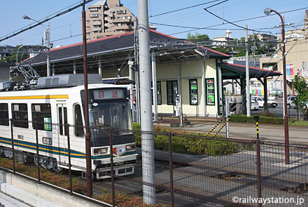 熊本市電・上熊本停留所隣接の車庫