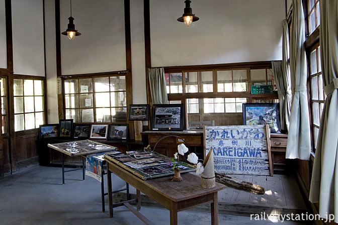 嘉例川駅、旧駅事務室内部