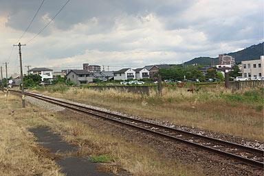 JR九州・久大本線・南久留米駅、駅横の空地